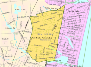 Spring Lake Heights, New Jersey - Image: Census Bureau map of Spring Lake Heights, New Jersey