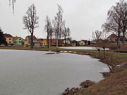 Center with ponds of Nová Ves, Třebíč District.JPG