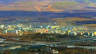 Susuman Town in Magadan Oblast, Russia