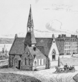 Central Stone Row 1874 (cropped to show Sage Chapel).png