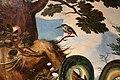Cerchia di jan van hemessen (forse maestro di paolo e barnaba), cacciata dal paradiso terrestre, 1500-60 ca. 06 cacatua.jpg