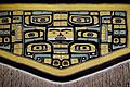 Ceremonial cape, Tlingit people, Chilkat clan, northwest coast of North America, 1850-1900 AD, cedar bark, mountain goat hair, sheep's wool, view 2 - Textile Museum, George Washington University - DSC09930.JPG