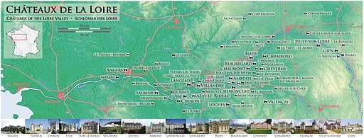 Chateaux de la Loire - Karte