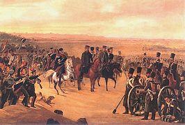 Generałowie Chłopicki i Skrzyniecki na czele wojsk polskich, obraz