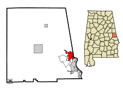 Location in Quận Chambers, Alabama