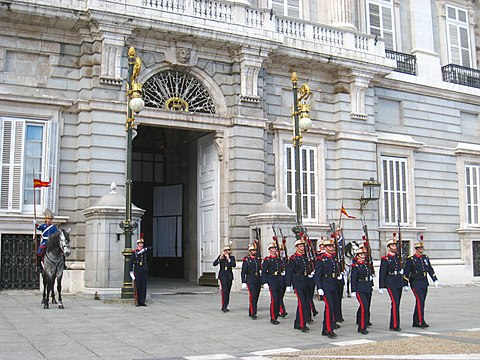Changing of the Guard Royal Palace of Madrid foot