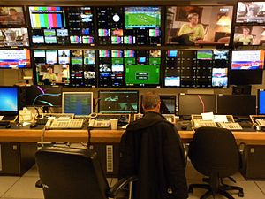 Israel Broadcasting Authority - HD control room of IBA's Television Channel 1