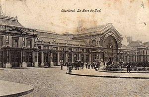 Charleroi-South railway station - Charleroi-South railway station early 1900s.