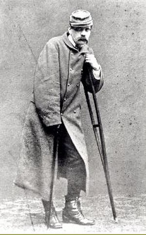 Charles Costa de Beauregard - Costa de Beauregard, after being wounded at the Battle of Bethancourt in 1871.