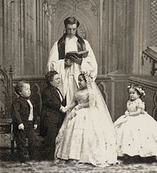 Charles Sherwood Stratton and Lavinia Warren marriage.jpg