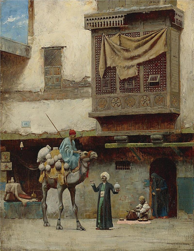 Чарльз Спрэг Пирс - Продавец керамики в Старом городе Cairo.jpg