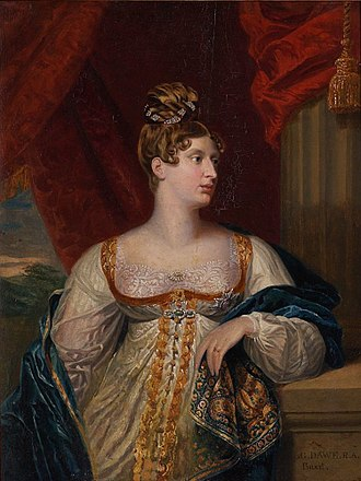 Princess Charlotte of Wales - Portrait by George Dawe, 1817