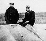 Cheranovsky BICh-8, Boris Cheranovsky and Sergei Korolev.jpg