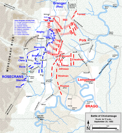 Thesis for the battle of chickamauga