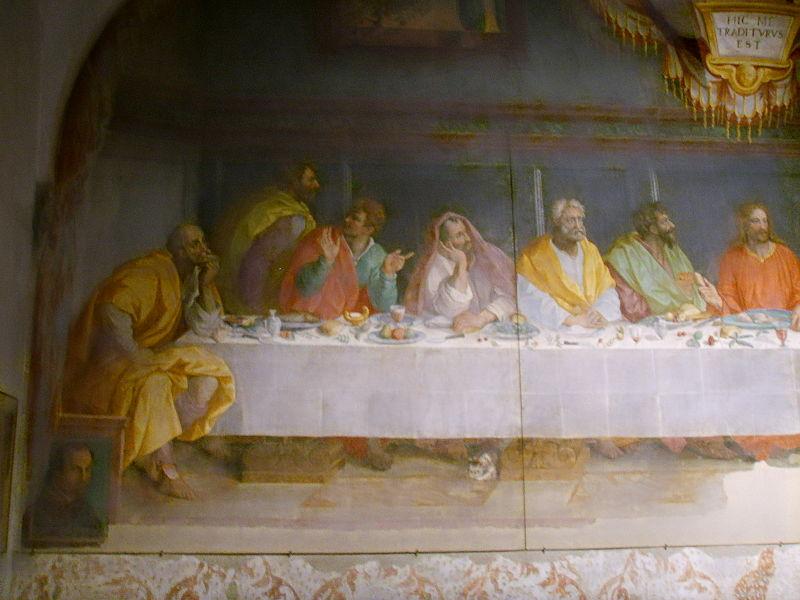 File:Chiesa del carmine, cenacolo di alessandro allori, dettaglio1.JPG