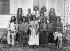 Chiricahua - Chiricahua Apaches as they arrived at the Carlisle Indian School in Pennsylvania