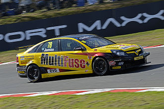 2012 British Touring Car Championship - Chris James' Vauxhall Vectra during Round 1 at Brands Hatch Indy Circuit 2012