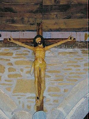 The Yellow Christ - The Crucifix of Trémalo, Pont-Aven, an anonymous wood sculpture, 189 x 133 cm