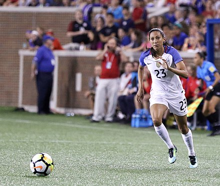 Press with the national team in 2017. Christen Press (37043884260).jpg