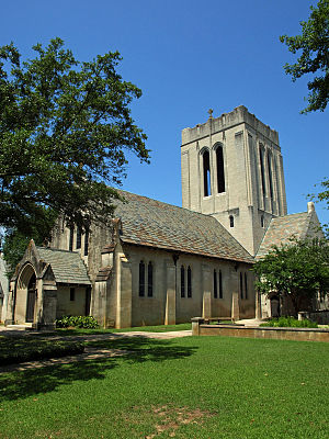 Episcopal Diocese of Alabama - The Church of the Ascension in Montgomery. The congregation was established in 1908, with the current church building completed in 1910.