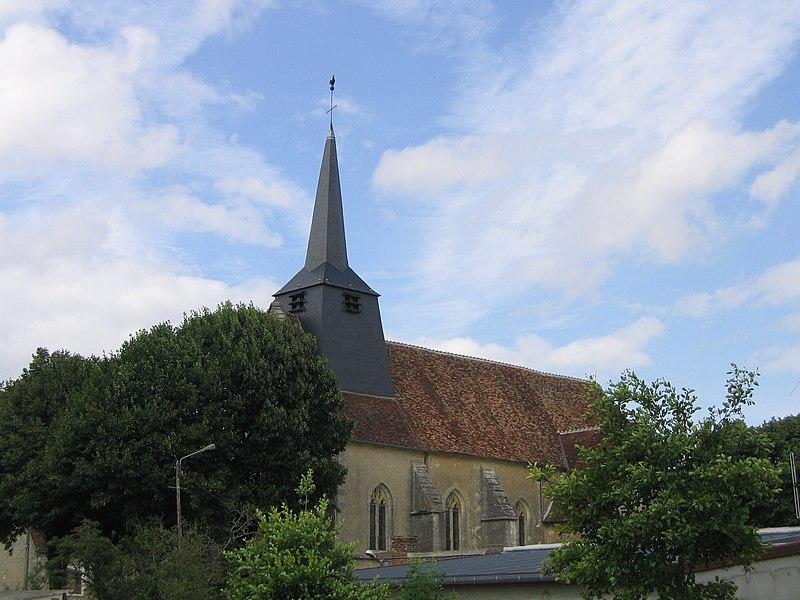 Ciez, l'église du village.