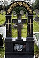 City of London Cemetery - black polished grave monument - Newham London England.jpg