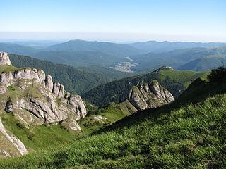 The Sub Carpathians mountain range