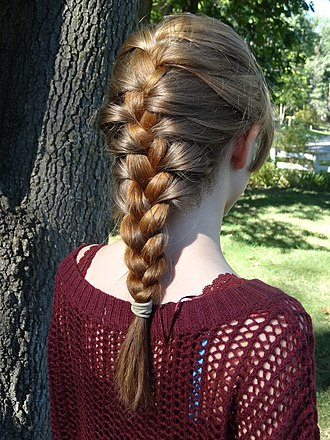Braid - A young girl's hair in a French braid