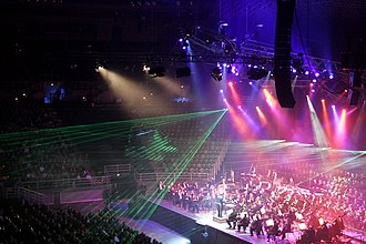 Stage lighting - Classical Spectacular used ordinary stage lighting plus special laser effects