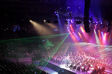A classical music concert in the Rod Laver Arena, Melbourne, Australia, 2005 Classical spectacular10.jpg