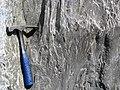 Clast-poor mixtite (Coleman Member, Gowganda Formation, Paleoproterozoic, ~2.3 Ga; Percival Lake roadcut, Ontario, Canada) 5 (47670458302).jpg