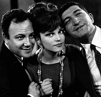 Milva - Claudio Villa, Milva and Nicola Arigliano in 1964