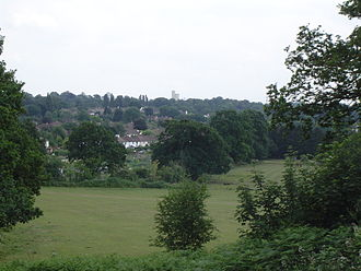 Claygate - View over Claygate from Telegraph Hill to Ruxley Towers
