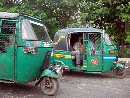 &quotCNGs&quot in Dhaka. - Auto rickshaw