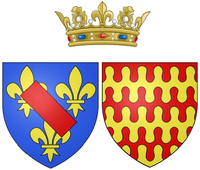 Coat of arms of Claire Clémence de Maillé as Princess of Condé.png