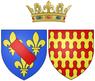 Coat of arms of Claire Clémence de Maillé as Princess of Condé.png