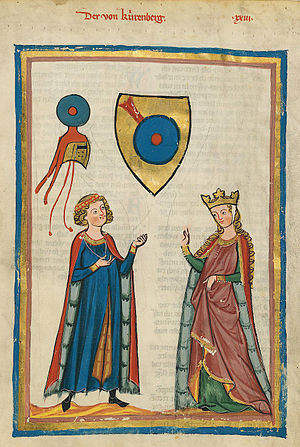 Der von Kürenberg - Der von Kürenberg (Codex Manesse, 14th Century)