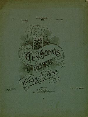 Colin McAlpin - Image: Colin Mc Alpin Ten Songs cover
