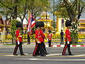 Colours guards of 1st Infantry Regiment in the Royal Funeral Procession of Princess Bejaratana Rajasuda2.JPG