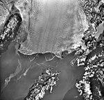 Columbia Glacier, Calving Terminus, Heather Island, November 15, 1981 (GLACIERS 1452).jpg