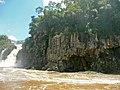 Columnar-jointed flood basalt (Serra Geral Formation, Lower Cretaceous; Iguazu Falls, Iguazu River, Brazil-Argentina border) (40231142201).jpg