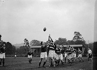 Pontypool RFC - A combined Pontypool and Newbridge (hoops) verses South Africa (The Springboks) on 18 October 1951