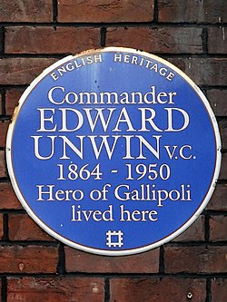 Commander edward unwin vc 1864 1950 hero of gallipoli lived here