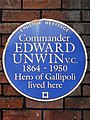 Commander Edward Unwin VC 1864-1950 hero of Gallipoli lived here.jpg