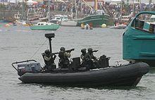 Dimostrazione d'assalto del Commando Jaubert.