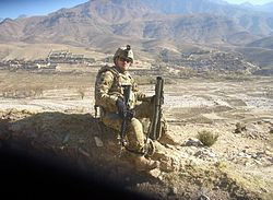 Company a 1st battalion 133rd infantry soldier in Afghanistan.jpg