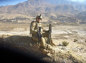 133rd Infantry Regiment (United States) - Image: Company a 1st battalion 133rd infantry soldier in Afghanistan