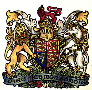 Arthur Charles Fox-Davies - The royal arms, from The Art of Heraldry, which was illustrated by Scottish heraldic artist Graham Johnston.