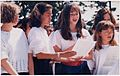Congregation Habonim Toronto Youth Choir performing at the opening of the Yad Vashem Holocaust Memorial at Earl Bales Park, Toronto, June 2, 1991.jpg