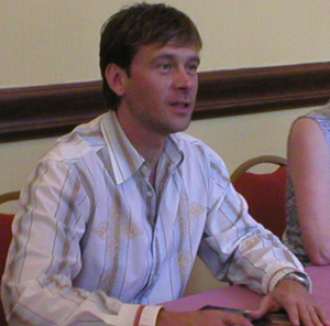 Connor Trinneer - Trinneer signing autographs at a convention, 2006